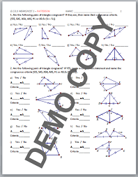 Cpctc Worksheet Answers High Geometry Common G Co B 8 Congruence Criteria