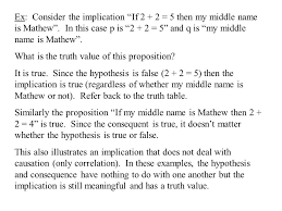 What Is A Truth Table Chapter 1 The Foundations Logic And Proof Sets And Functions