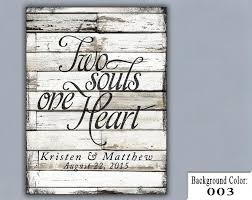personalized wedding gifts ts two souls one wedding sign handmade personalized