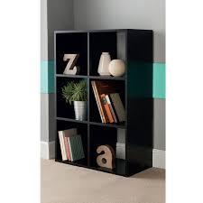 Cube Bookcase Wood 6 Cube Shelving Unit Black Storage U0026 Shelving B U0026m