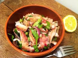 poulpe cuisine salade de poulpe à l italienne insalate di polpo envie de cuisiner