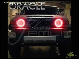 halo rings red images Oracle 07 14 toyota fj cruiser led halo rings headlights bulbs