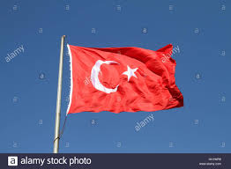 Blue Flag White Star Red And White Turkish Flag With Moon And Star Stock Photo Royalty