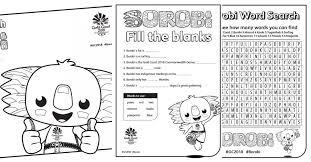printable kids activities commonwealth games printables activities for kids the organised