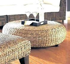 Wicker Storage Ottoman Coffee Table Wicker Ottoman Sophisticated Wicker Ottomans King Brown
