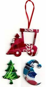 recycled soda pop can santa ornament by recycledsouvenirs
