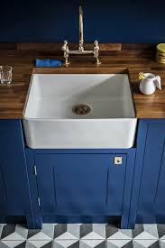 Blue Kitchen Sink Kitchen Of The Week A Brightly Colored And Cost Conscious