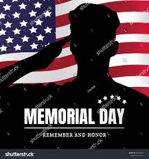 Honor Flag Memorial Day Usa Remember Honor Illustration Stock Illustration
