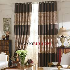 brown jacquard floral shabby chic bedroom curtains buy brown