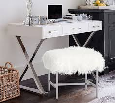 ava glass display wood desk ava desk with drawers pottery barn