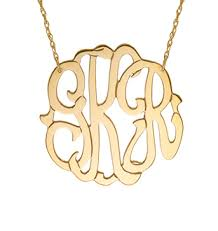monogram necklaces gold jewelry monogram necklace sterling silver or gold