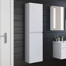 White Tall Bathroom Cabinet by Awesome High Gloss Bathroom Cabinet Gallery Home Design Ideas