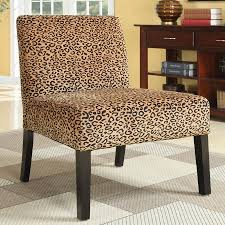 Gold Accent Chair Shop Coaster Fine Furniture Casual Gold Leopard Accent Chair At