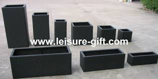 Metal Planter Box by Fo 9406 Square Garden Rattan Planter Boxes Buy Rattan Planter