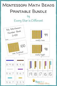 printable montessori curriculum montessori math beads bar printable bundle with numbers 0 100