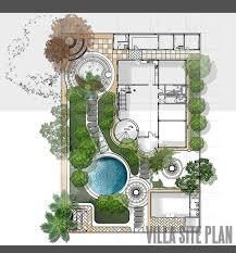 site plan design siteplan and landscape design for private villa in qatar ikiz