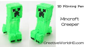 3doodler 3d printing pen 2 3doodler minecraft creeper 3d how to tutorial 3d printing pen