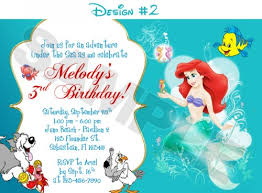 ariel disney mermaid free birthday invitation free
