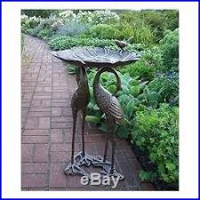 metal bird bath garden statues and sculptures crane heron bird