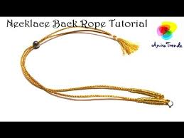 cord necklace making images How to make necklace back rope for silk thread jewel quilling jpg