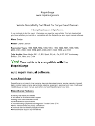 vehicle compatibility fact sheet for dodge grand caravan