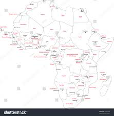 African Countries Map Africa Map With Countries World Map