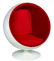 durable eero aarnio ball chair with cusion and speaker optional