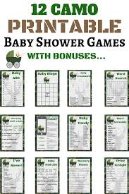 18 camo baby shower ideas plus printable games print my baby shower