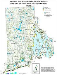 Map Rhode Island Rhode Wetlands And Floodplains