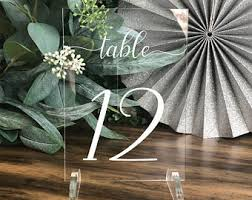 acrylic table numbers wedding table number acrylic etsy