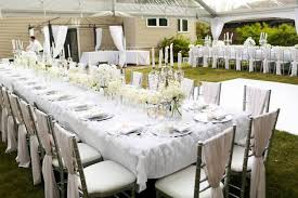 white party table decorations elegant outdoor party ideas outdoor designs