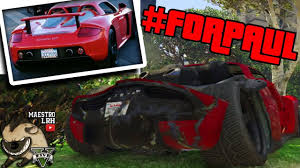 paul walker porsche la porsche carrera gt de l u0027accident de paul walker gta 5 online