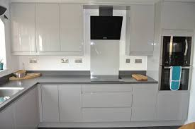 light grey kitchen sheraton in line lacquered light grey kitchen tranent kitchens