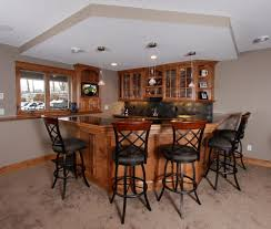 Home Bar Cabinet Designs Basement Ideas Lower Level Game Room And Bar In Residential