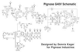 blue guitar schematics pignose g40v tube amp schematic wiring