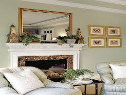 decorative mirrors for above fireplace with modern fireplace