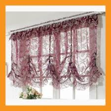 Balloon Curtains For Kitchen by Large Balloon Shade Valance Curtain W Flowers Decoration