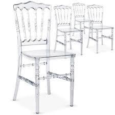 chaise en plexiglas lot de 4 chaises napoleon plexi transparent achat vente chaise