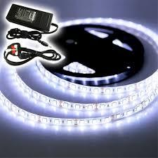 waterproof led ribbon lights 5 20m waterproof led strip lights 3528 5050 300 led cool white tv
