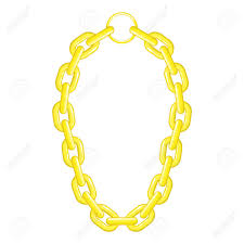 chain necklace design images Golden chain necklace icon cartoon illustration of golden chain jpg