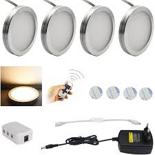 puck lights with remote aiboo led under cabinet lighting 4pcs led puck llights with wireless