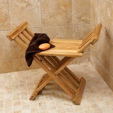 Teak Bathroom Furniture Deluxe Teak Bath Stool From Sportys Preferred Living