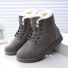 womens boots bc boots warm winter boots lace up fur ankle boots