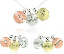 inspirational necklaces tri color inspirational word pendant necklaces only 9 shipped