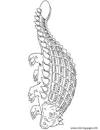 ankylosaurus dinosaur coloring pages printable