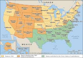 map of the united state united states after 1861 students britannica homework help