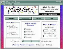what is mathgen math worksheet generator for windows