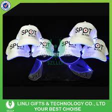 custom logo printed led pathfinder lighted baseball cap led