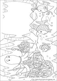 rainbow fish coloring pages free kids