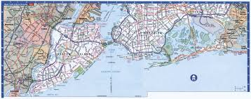 Queens Map Large Detailed Road Map Of Staten Island Brooklyn And Queens